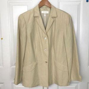 ESCADA Women's Blazer Linen Silk Blend Sz 12